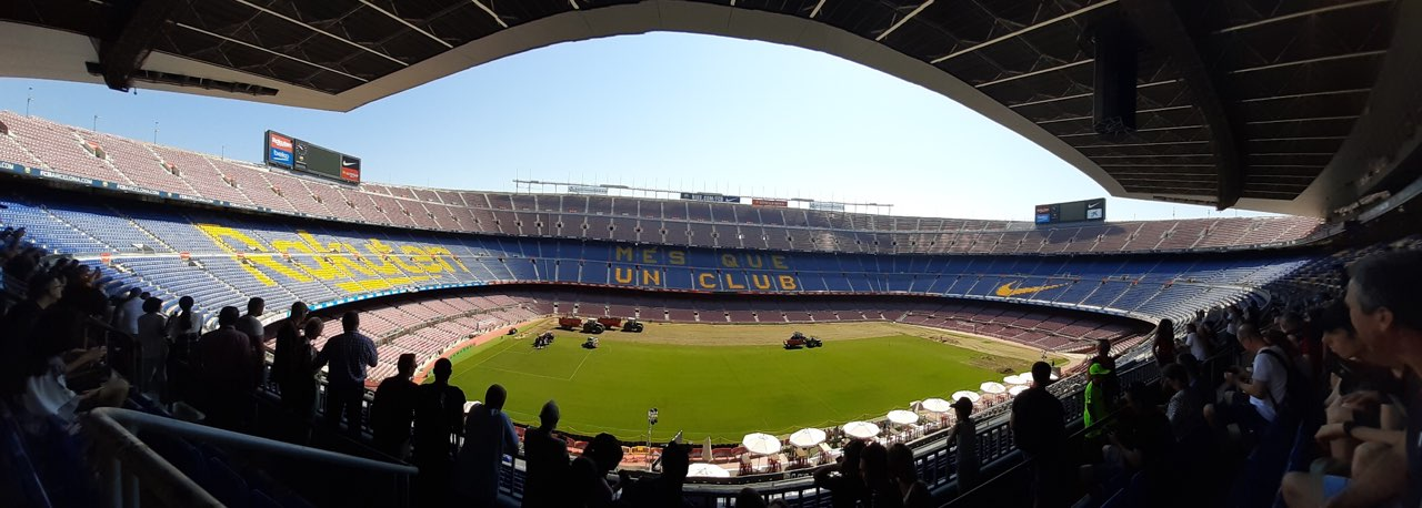 Vue du terrain du stade du FC Barcelone
