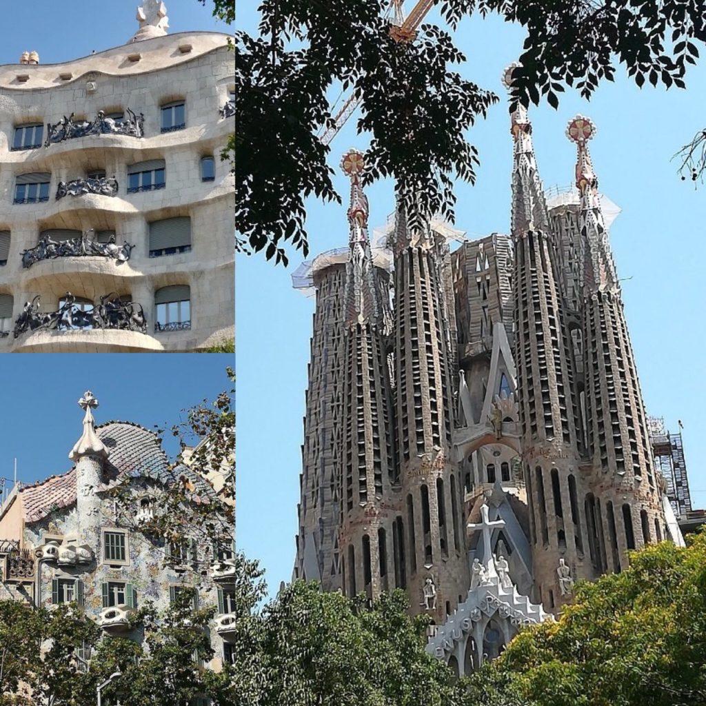 Photo des merveilles architecturales d'Antoni Gaudí